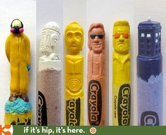 If It's Hip, It's Here: Pop Culture Carved Crayons By Hoang Tran Will Color You Excited.