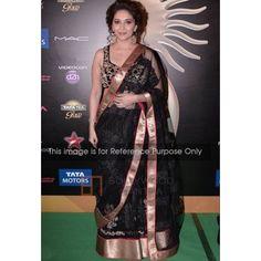 Madhuri Black Bollywood Saree - Buy Bollywood Sarees Online   OMB1347   YSK