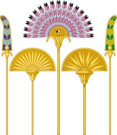 Buy Egyptian Large Fans by MasaMima on GraphicRiver. Illustration of an egyptian large fans isolated on white background. Egyptian Symbols, Egyptian Art, Egyptian Costume, Mandala, Ancient Egypt Art, Ancient Aliens, Ancient Artifacts, Ancient Greece, Ancient History