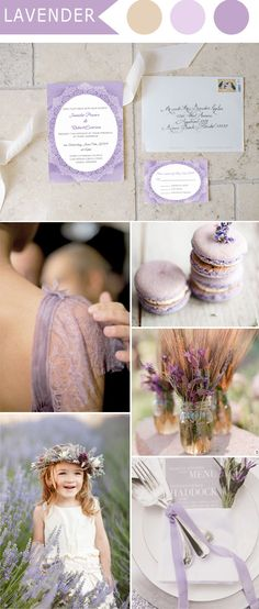 Lavender Inspired Wedding Colors and Wedding Invitations