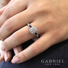 Gabriel Engagement Rings Style #ER12125 #GabrielCoRetailer #Gabrielandco #GabrielNY