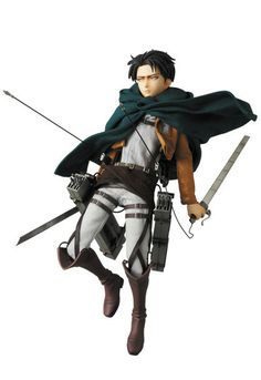 "Humanity's strongest soldier, Captain Levi himself, finally joins Medicom's Real Action Heroes line-up in this stunning dual personality edition! Attack on Titan is the big hit anime of the moment and likely needs no introduction, but for those who don't know, it takes place in a world in which humanity is threatened by giant carnivorous humanoids known as ""Titans."" The last bastion of defense aga..."
