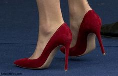 Kate debuted a new pair of red suede pumps by Gianvito Rossi as she attended the Order of The Garter Service at Windsor Castle on June 13, 2016 in Windsor, England.