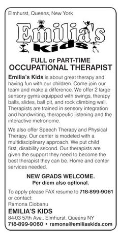 Pediatric Occupational Therapist Job In Idaho Falls Rexburg And