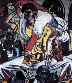 "Max Beckmann - ""Apache Dance"", 1938.  Art Experience NYC  www.artexperiencenyc.com/social_login/?utm_source=pinterest_medium=pins_content=pinterest_pins_campaign=pinterest_initial"