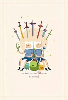 finn and his swords Geeks, Abenteuerzeit Mit Finn Und Jake, Finn Jake, Jake Adventure Time, Pendleton Ward, Land Of Ooo, Desenhos Cartoon Network, Jake The Dogs, Marceline