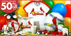 Party City St. Louis Cardinal baseball theme