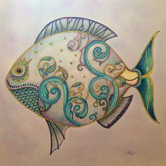 Johanna Basford's Lost Ocean Fish colored by Teresa Dodd