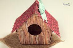 Romanticas casitas con forma de casitas de pajaros 4700
