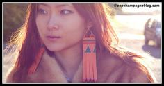 truebluemeandyou: DIY Leather Fringe Geometric Earrings Tutorial from Pop Champagne here. Photo by Sabrina. This reminds me of Gloriously Chic's cheat sheet for geometric/tribal designs. Leather Earrings, Leather Jewelry, Earring Tutorial, Diy Tutorial, Diy Fashion, Fashion Trends, Leather Fringe, Cute Earrings, Tribal Prints
