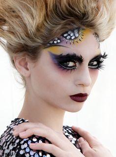 eye makeup, theatrical makeup, face paint, gard makeup, beauti, fantasi makeup, avant garde, hair, halloween masks