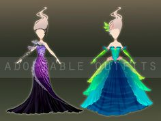 (Closed) Dresses design adoptables - Auction 6 by fantazyme.deviantart.com on @DeviantArt