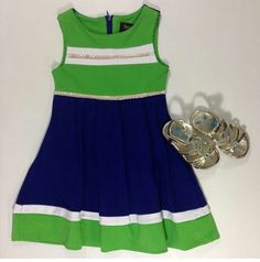 Laundry by Shelli Segal for girls sizes 4 to 6x paired with Kenneth Cole Sandals