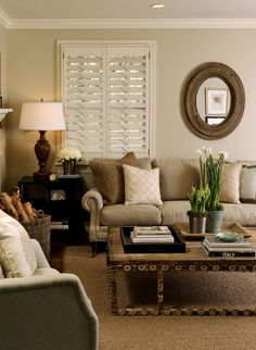 Neutral living room - I love everything about this!