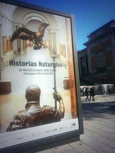 """Cartel de las """"Historias Naturales"""" de Miguel Ángel Blanco en el Museo del Prado. #Cartel #Affiche #Arterecord 2013/2014 https://twitter.com/arterecord"""