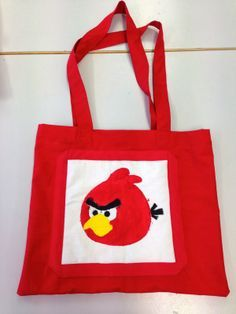 Diy Bags Purses, Working With Children, Angry Birds, Needlework, Arts And Crafts, Reusable Tote Bags, Textiles, Sewing, Fabric