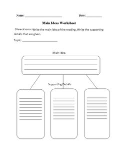 In Search of the Main Idea | Main idea lessons, Worksheets and Fun ...