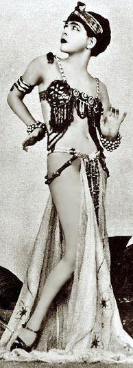TOTAL ERROR!!!  Oriental Dance is not this!!!   Alla Nazimova (1879-1945) - c. 1900 - @Mlle