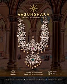 Heavy diamond haram by Vasundhara Exotic Jwelery- Hyderabad