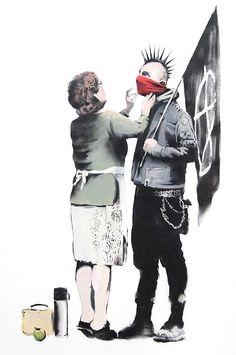 Ready to Hang Banksy Graffiti Canvas Street Art Prints by Banksy Graffiti, Banksy Posters, Graffiti Artwork, Art Mural, Street Art Graffiti, Bansky, Banksy Canvas, Banksy Quotes, Banksy Paintings