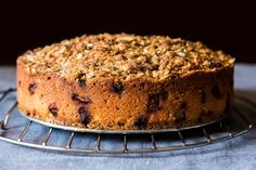 Rhubarb Almond Crumb Cake from Food52.  I'll be making this on Sunday :)