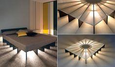 Bett-selber-bauen-für-ein-individuelles-Schlafzimmer-Design_selbstgebautes-bett-mit-beleuchtung