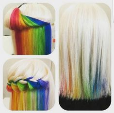 I wish I was brave enough to do crazy stuff with my hair cause this is really cool
