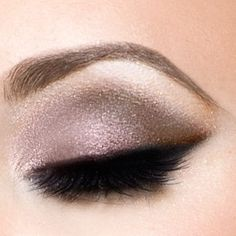 natural but subtle at the same time. the darkness of the lashes and fade of the liner at edge causes a bold look