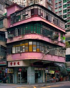 Hong Kong corner houses photographed by Michael Wolf. Hong Kong is one of my must-see destinations. Photo Japon, Michael Wolf, Wolf Photography, Corner House, City Aesthetic, Tokyo Dome, Interior Architecture, Hong Kong Architecture, Japanese Architecture