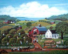 Mary Singleton Painting -Apple Pickers