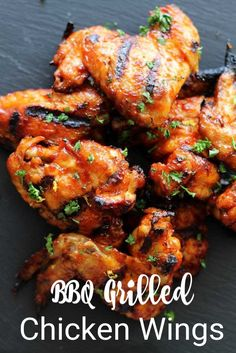 Easy Bbq Recipes, Grilling Recipes, Beef Recipes, Dinner Recipes, Sauce Recipes, Summer Recipes, Delicious Recipes, Grilled Chicken Wings, Bbq Chicken Wings