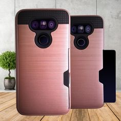 LG G5 case-  Rosegold card insert pocket cover w FREE glass screen protector  | eBay