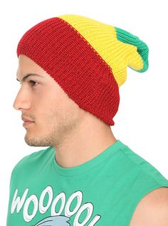 Rasta Slouch Beanie | Hot Topic