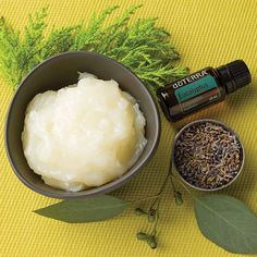 DIY homemade salve using Lavender, Cypress, Melaleuca, Frankincense, and Eucalyptus essential oils.  Take care of your skin #doterra #skincream