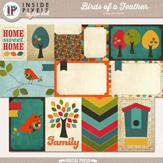 Birds Of A Feather Inside Life Cards are a fun way to document your family pictures. It coordinates beautifully with Birds Of A Feather digital kit