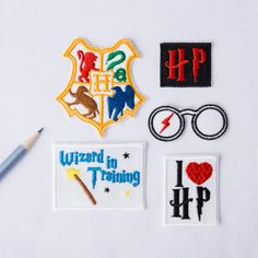 Badge de Harry Potter Patch Harry Potter patchs Cool grand patch correctif Poudlard patch brodé fer sur la broderie Machine Badge 007