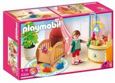 Playmobil 5334   Rosa Habitación Del Bebé: Amazon.es: Juguetes Y Juegos