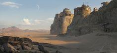 Desert   fortress, Sergey Vasnev on ArtStation at https://www.artstation.com/artwork/dLXzQ