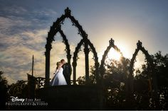 This photo looks like it was taken right from the pages of a fairy tale #Disney #wedding #MagicKingdom