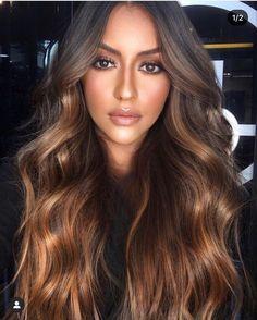 Hot Hair Colors, Hair Color Dark, Cool Hair Color, Dark Hair, Hair Colour, Brunette With Caramel Highlights, Hair Color Caramel, Brown Hair Balayage, Hair Color Balayage