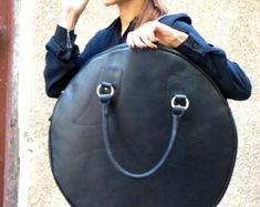 NEW Genuine Leather Black Extravagant Tote Bag / High Quality