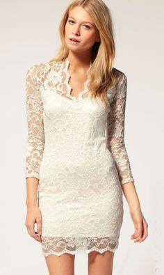 White vintage lace dress