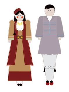 illustrations based on the traditional garments of Greece.Goal of the project is to present each regional costume in a modern way using basic shapes but close to the originals forms, colors and patterns. Basic Shapes, Traditional Fashion, Motor Activities, Fine Motor, Ronald Mcdonald, Greece, Costumes, The Originals, Behance