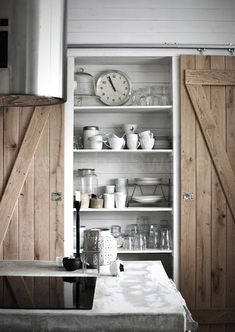 Image result for sliding barn double pantry door