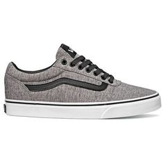 Vans Ward Lo Sneakers (200 BRL) ❤ liked on Polyvore featuring men's fashion, men's shoes, men's sneakers, grey, mens grey sneakers, vans mens shoes, mens grey shoes and mens gray shoes #sneakersvans #sneakersmens