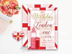 Printable invitations - London invitation - big ben - calligraphy - england invitiation  - freshmint paperie by FreshmintPaperie on Etsy https://www.etsy.com/listing/216087210/printable-invitations-london-invitation