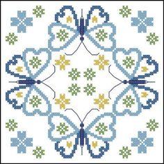 Herrschners® Butterfly Fields Quilt Blocks Stamped Cross-Stitch