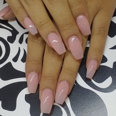 Perfect nude coffin nails