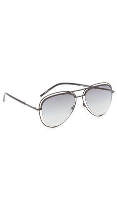 MARC JACOBS Double Frame Aviator Sunglasses. #marcjacobs #sunglasses