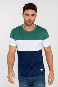 T-shirt Short Sleeve Unique Round Neck rnrnSource by ashikur Polo Tee Shirts, Boys Shirts, T Shirt, Mens Photoshoot Poses, Camisa Polo, Striped Tee, Mens Tees, Menswear, Mens Fashion